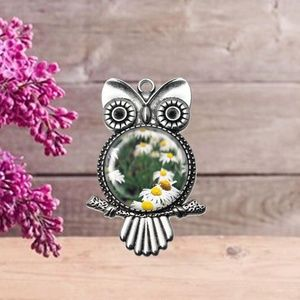 Owl Daisy Pendant